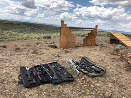 Rifles In Case