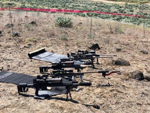 Rifles on Shooting Range