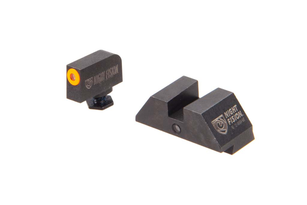 "Night Fision Student Of The Gun Accur8 GLOCK Sights - ""Square"" Rear"