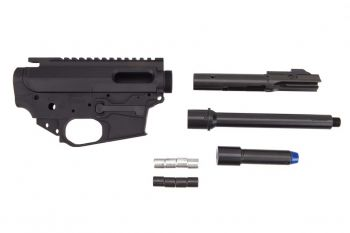 Quarter Circle 10 Rear Charging (Glock Compatible) Small Frame 9MM PCC Builders Kit