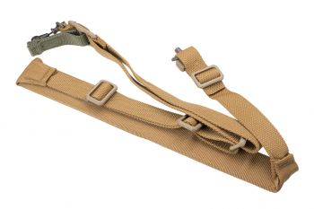 Blue Force Gear Vickers 221 Padded Sling w/ RED Swivel - Coyote Brown