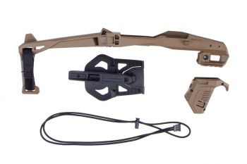 Recover Tactical 20/20 Stabilizer Kit w/ Sling, Holster & Angled Magazine Holder For Glock - Tan