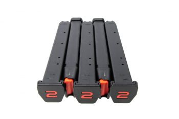Amend2 A2-Stick 9mm Double Stack Magazine For Glock - 34 Rounds (5 Pack)