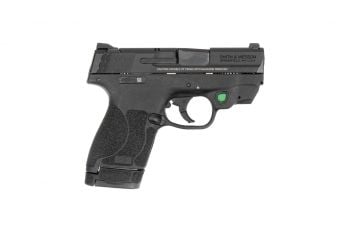 Smith & Wesson M&P 2.0 Shield 9mm Pistol w/ Crimson Trace Green Laser & Manual Safety - 7/8rd