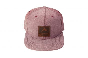 Rainier Arms Leather Patch Snapback Hat - Faded Red
