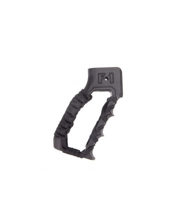 F-1 Firearms Skeletonized Grip w/ finger grooves and Paracord - Black