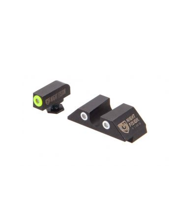 "Night Fision Glock Perfect Dot Night Sight Set - Yellow/White ""U"" Rear"