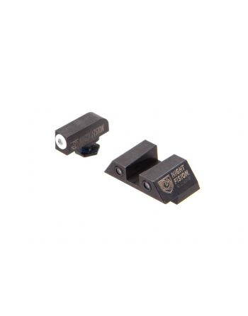 Night Fision Glock 43 Perfect Dot Night Sight Set - White/Black Square Rear