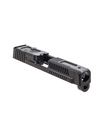 Faxon Firearms M&P Full Size Patriot Assembled (No Sights) Slide w/ Optic Cut - DLC Black