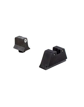 Trijicon Glock Suppressor Sight Set - White Front & Black Rear w/ Grn Lamps