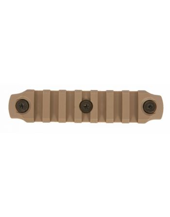 "Bravo Company MFG (BCM) GUNFIGHTER KeyMod Nylon Rail - Flat Dark Earth 4""/7 slot"