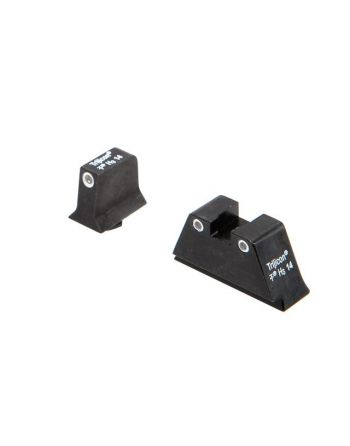 Trijicon Glock Suppressor Sight Set - White Front & White Rear w/ Green Lamps