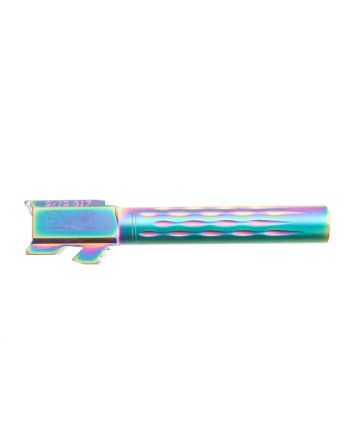 Faxon Firearms Glock 17 Flamed Barrel - Chameleon (Rainbow)