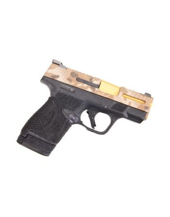 Wetwerks M&P Shield w/ Night Sights Pistol - Multicam Dark earth Apex Black Trigger 9mm