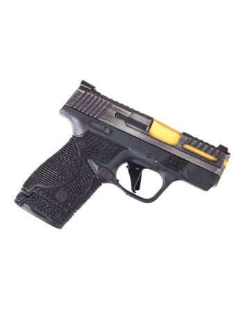 Wetwerks M&P Shield w/ Night Sights - Battleworn Gray with Black Trigger