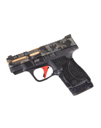 Wetwerks M&P Shield w/ Night Sights - Multicam w/ Apex Red Trigger