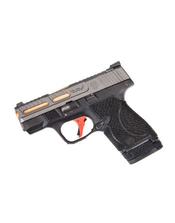 Wetwerks M&P Shield w/ Night Sights - Tungsten w/ Red Trigger