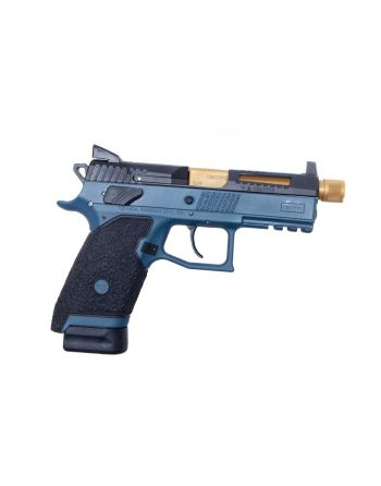 Danger Close Armament CZ P-07 Signature Pistol - Blue Titanium/TiN