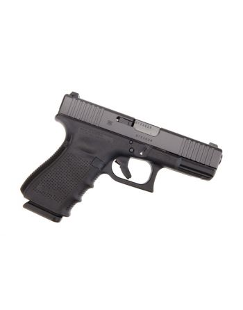 Glock 19 Gen 4 Pistol 9mm with Front Slide Serrations and Extended Controls