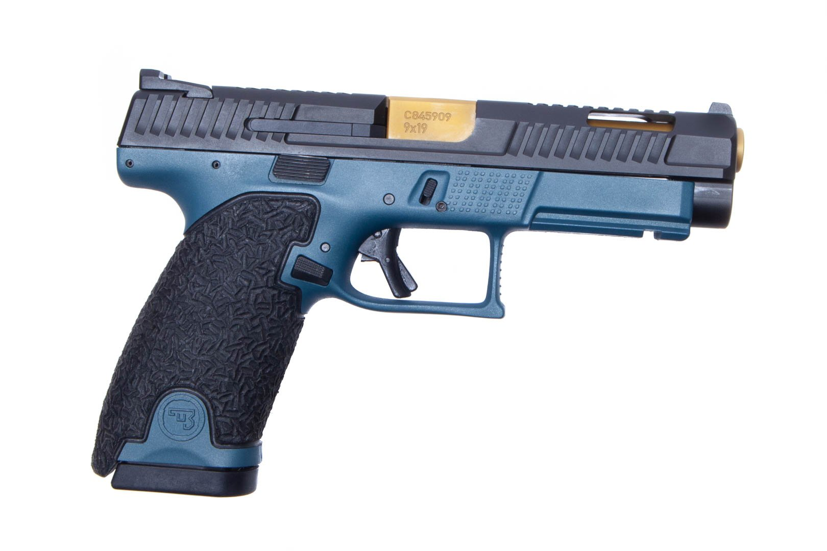 Danger Close Armament CZ P-10L 9MM Signature Pistol - Blue Titanium