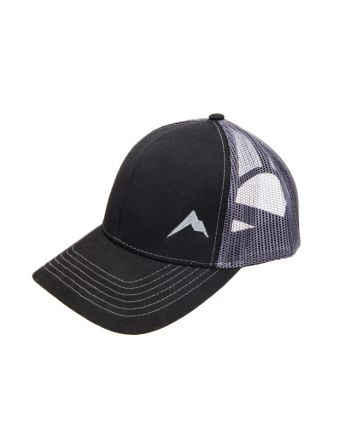 d902af577a5d2 Rainier Arms Trucker Black Charcoal Hat