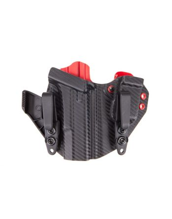 LAS Concealment Ronin 2.0 Holster Glock 19/23  Carbon/Rainier Red 1.75""