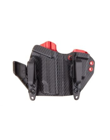 LAS Concealment Ronin 2.0 Holster Shield 9/40 Carbon/Rainier Red 1.75""