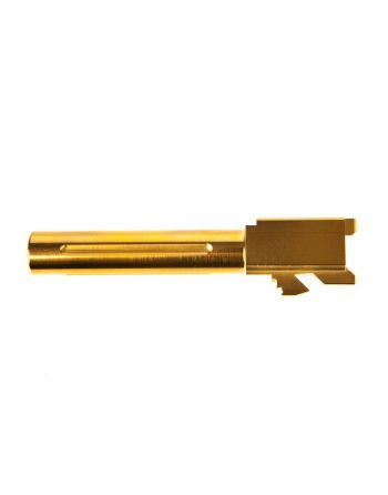 S3FSolutions Drop In Match Grade Barrel Glock 19 - TiN(Gold)-Fluted