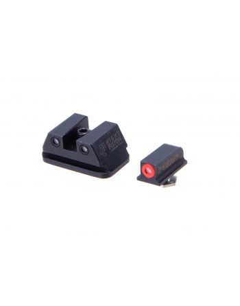 "Night Fision Perfect Dot Walther PPQ, PPQ M2, P99 Tritium Night Sight Set - Red/Black ""Square"" Rear"