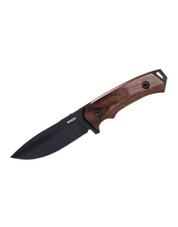 WOOX Rock 62 Plain Fixed Knife - Walnut