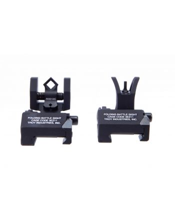 Troy Industries Micro Folding Battlesights Iron Sights Set w/ Dioptic Rear - Black