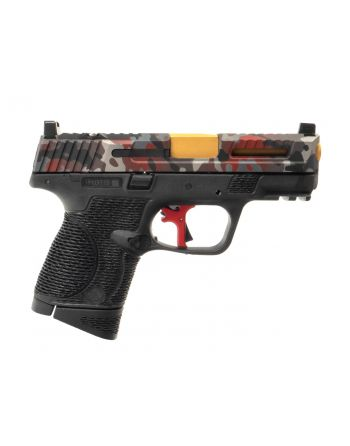 WetWerks M&P9c Compact - Red Camo w/ Apex Red Trigger