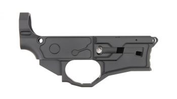 M1 Machining AR-9 80% Billet Lower Receiver - Black Cerakote
