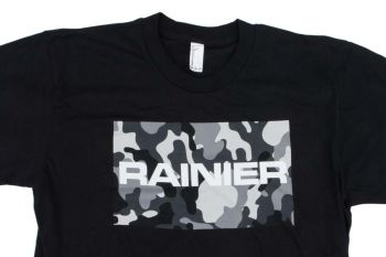 Rainier Arms Black and White Camo T-Shirt
