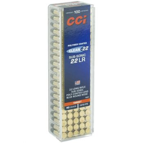 CCI 22LR Subsonic 40gr Lead Round Nose Ammunition - 100rd Case