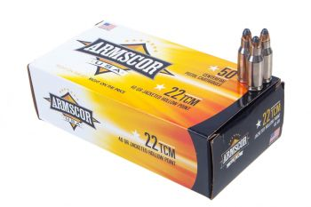 Armscor 22TCM 40gr Jacketed Hollow Point Ammunition - 50rd Box