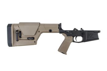 Aero Precision M5 Complete Lower Receiver w/ FDE MOE Grip & PRS Stock - Black