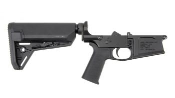 Aero Precision M5 Complete Lower Receiver w/ MOE SL Grip & SL-S Carbine Stock - Black