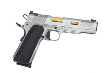 Nighthawk Custom Agent2 1911 Pistol - 9MM Brush Nickel w/ TiN Barrel