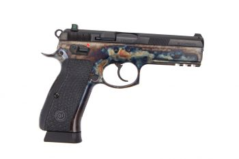 Guncrafter Industries CZ 75 SP-01 Executive Series Pistol - Hot Salt Blue