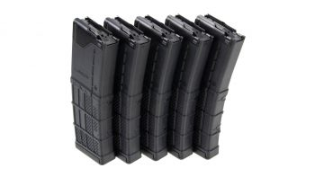 Lancer Systems AR-15 L5AWM 30rd Mag - Opaque Black (5 Pack)
