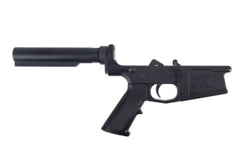 Aero Precision M5 (.308) Carbine Complete lower w/ A2 Grip, No Stock - Black