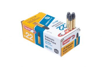 Aguila Ammunition Subsonic 22LR 40 Grain Solid Point Ammunition - 50rd Box
