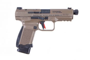 Canik TP9 Elite Combat 9mm Pistol w/ Threaded Barrel - 15rd FDE