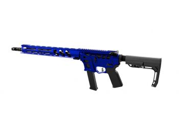 """LEAD STAR ARMS BARRAGE - SKELETONIZED 9MM COMPETITION EDITION PCC RIFLE - 16"""" BLUE"""