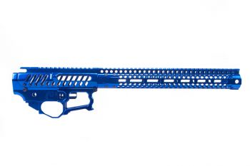 "F-1 Firearms BDR-15-3G Receiver Set w/ S7M 13.7"" Super Lite Handguard - Blue Polished"