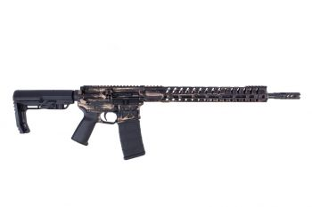 "F-1 Firearms Patriot Series FDR‐15‐3G H7M 5.56 Rifle - 16"" Distressed FDE"