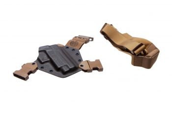 Gunfighters Inc Kenai Chest Holster - MAS Grey/Coyote/Coyote Sig Sauer P226 RH