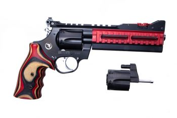 "Nighthawk Custom Super Sport .357 Magnum Pistol W/ 9MM Cylinder - 6"" Red ULX"