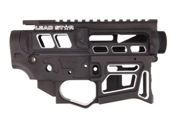 Lead Star Arms LSA-15 - Skeletonized AR-15 Receiver Set -Contrast Cut Black